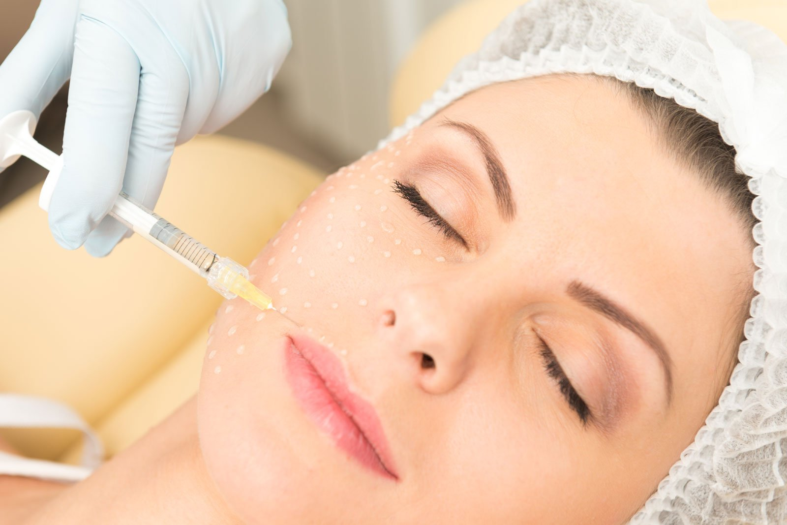woman with medspa injection