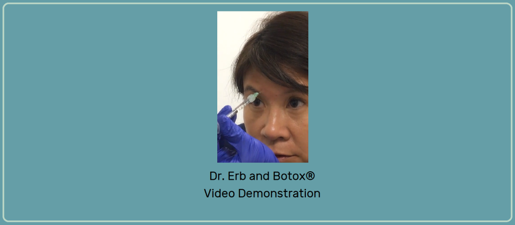 Banner with Video snapshot of Dr. Erb Injects Botox using a Mirror