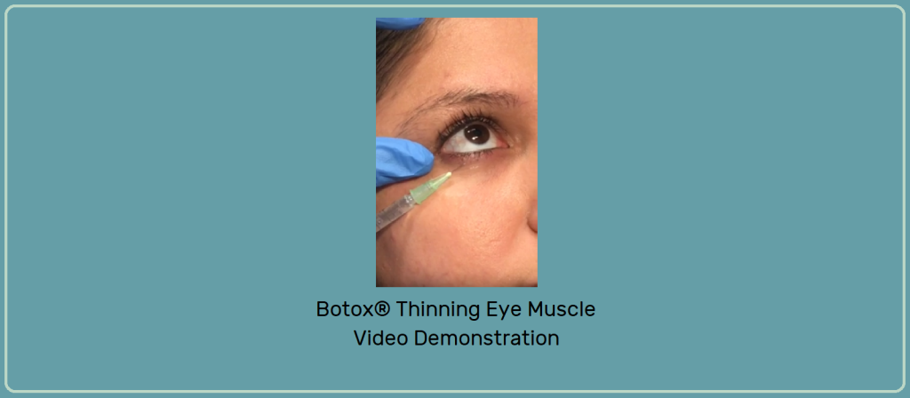 Banner with Video snapshot of Eyelid Injection Demonstration Video