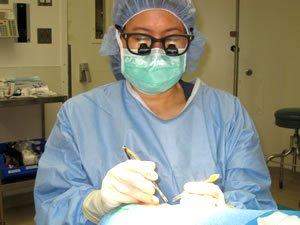 Doctor Erb doing Surgery Closeup